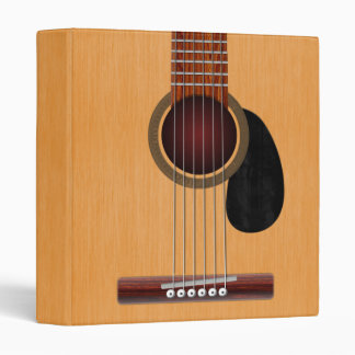 Acoustic Guitar 3 Ring Binder