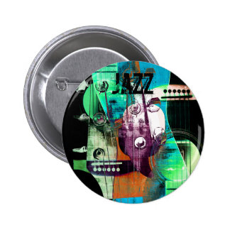 Acoustic guitar abstract collage - Jazz 2 Inch Round Button