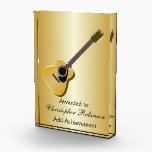 """Acoustic Guitar Acrylic Award<br><div class=""""desc"""">Guitar Design Award. This fun guitar design makes a great gift for any music lover. Customize with any text of your choice. Award design by justbyjulie</div>"""