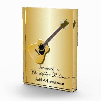 Acoustic Guitar Acrylic Award