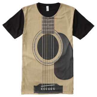 Acoustic Guitar All-Over-Print T-Shirt