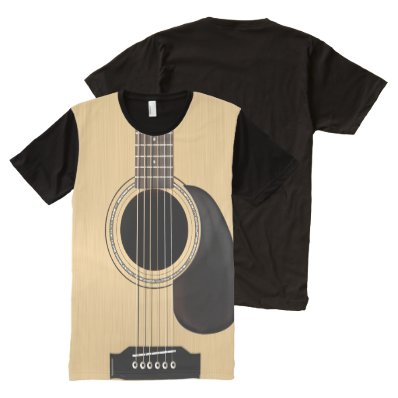 Acoustic Guitar All-Over Print T-shirt