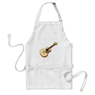 acoustic guitar art adult apron
