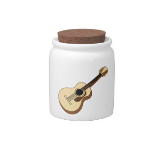 acoustic guitar art candy jar