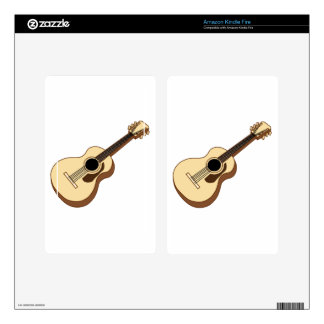 acoustic guitar art kindle fire skin