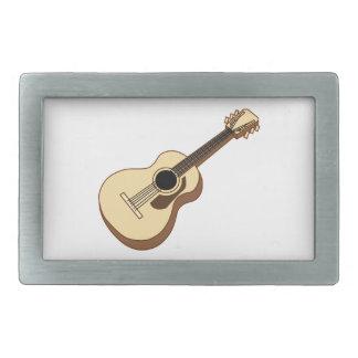 acoustic guitar art rectangular belt buckle