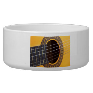 Acoustic Guitar Background Bowl