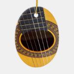 Acoustic Guitar Background Ornament