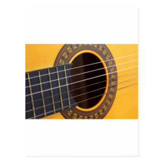 Acoustic Guitar Background Postcard