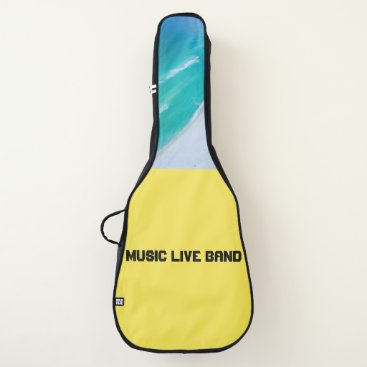 Beach Themed Acoustic Guitar Bag - Music Live Band (Yellow)