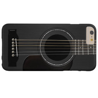 Acoustic Guitar Black Barely There iPhone 6 Plus Case