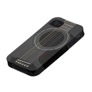 Acoustic Guitar Black iPhone 4/4S Covers