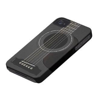 Acoustic Guitar Black iPhone 4 Case-Mate Case