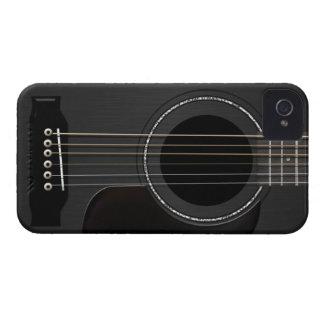 Acoustic Guitar Black iPhone 4 Case