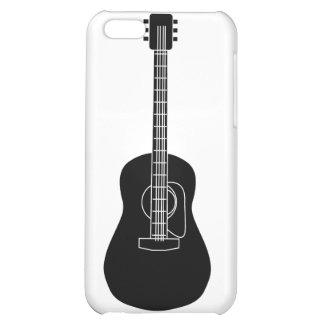 Acoustic Guitar Black Case For iPhone 5C