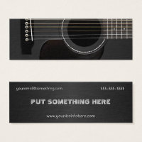 Band business cards templates zazzle large business cards acoustic guitar black colourmoves