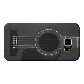 Acoustic Guitar Black Samsung Galaxy S6 Cases