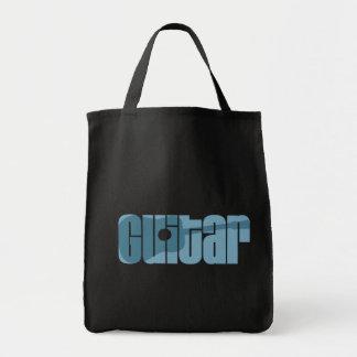 Acoustic Guitar Blue Tote Bag