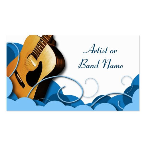 Acoustic Guitar Blue Expression Business Cards