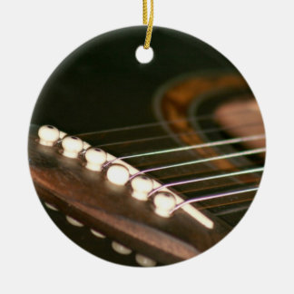 acoustic guitar bridge pins close up.jpg Double-Sided ceramic round christmas ornament