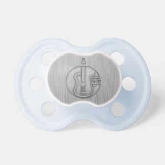 Acoustic Guitar; Brushed metal-look Baby Pacifier