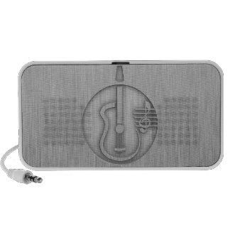 Acoustic Guitar; Brushed metal-look Notebook Speaker