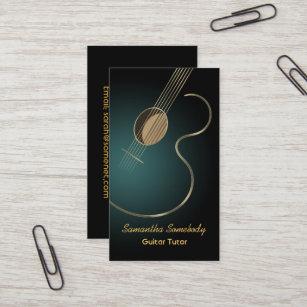 Guitar business cards templates zazzle acoustic guitar business card colourmoves