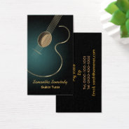 Acoustic Guitar Business Card at Zazzle