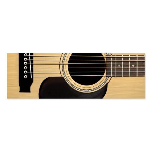 Acoustic Guitar Business Card