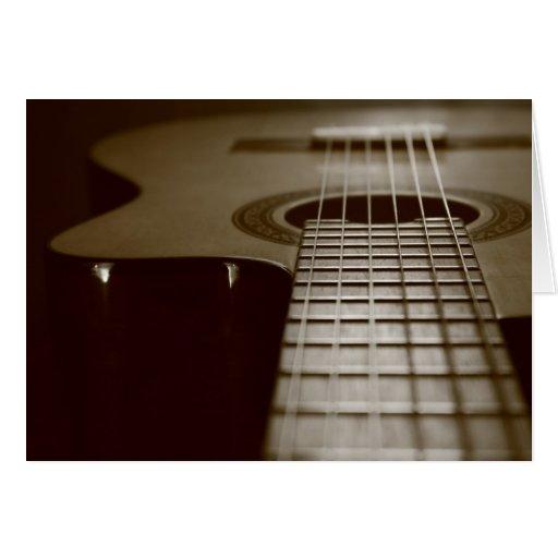 Acoustic Guitar Greeting Card