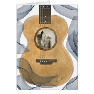 Acoustic Guitar Castle Greeting Card
