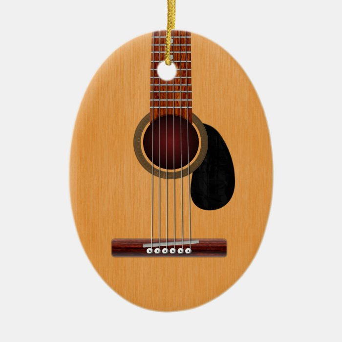 Acoustic Guitar Ceramic Ornament