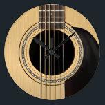 "Acoustic Guitar Clock<br><div class=""desc"">A classic six string guitar wall clock.</div>"