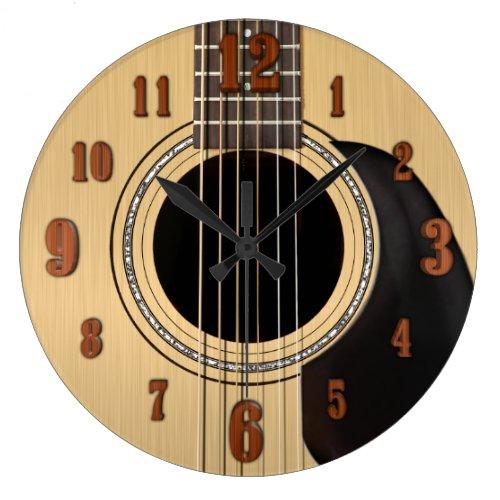 Acoustic Guitar Clock w Numbers