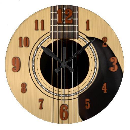 Acoustic Guitar Clock w/ Numbers
