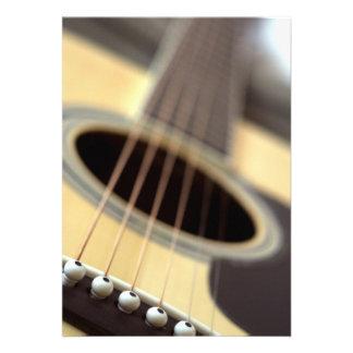 Acoustic guitar closeup photo card