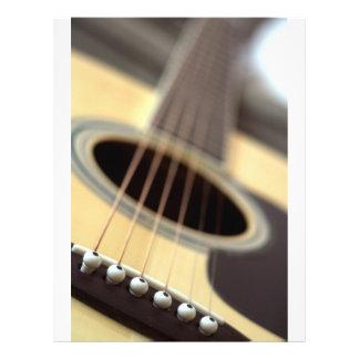 Acoustic guitar closeup photo flyer