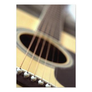Acoustic guitar closeup photo 5x7 paper invitation card