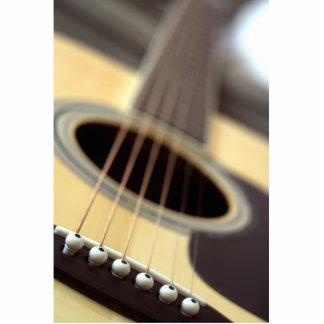 Acoustic guitar closeup photo standing photo sculpture