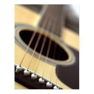 Acoustic guitar closeup photo postcard