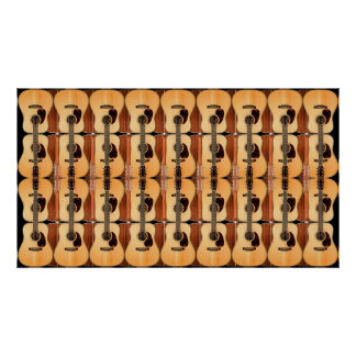 Acoustic Guitar Collage Poster Print