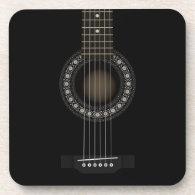 Acoustic Guitar Cork Coaster