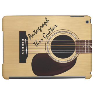Acoustic Guitar Custom Autograph Case For iPad Air