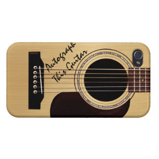 Acoustic Guitar Custom Autograph Cases For iPhone 4