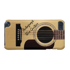 Acoustic Guitar Custom Autograph iPod Touch (5th Generation) Cover at Zazzle