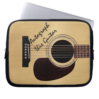 Acoustic Guitar Custom Autograph Laptop Sleeves