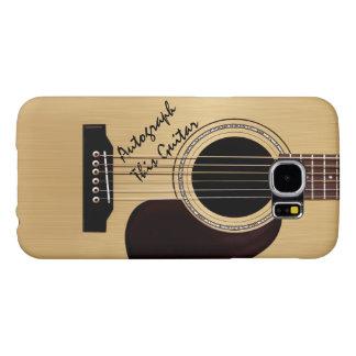 Acoustic Guitar Custom Autograph Samsung Galaxy S6 Cases