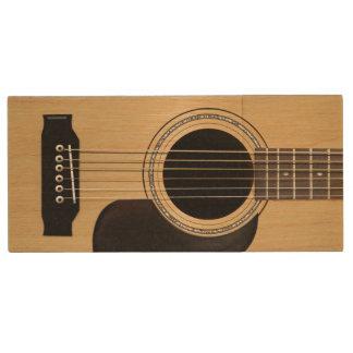 Acoustic Guitar Custom Wood Flash Drive