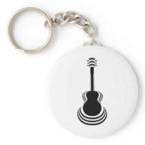 Acoustic Guitar Cutout Keychain