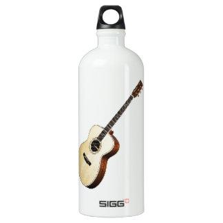 """Acoustic guitar"" design and Aluminum Water Bottle"